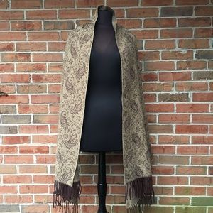 Talbots Brown and Tan Wrap